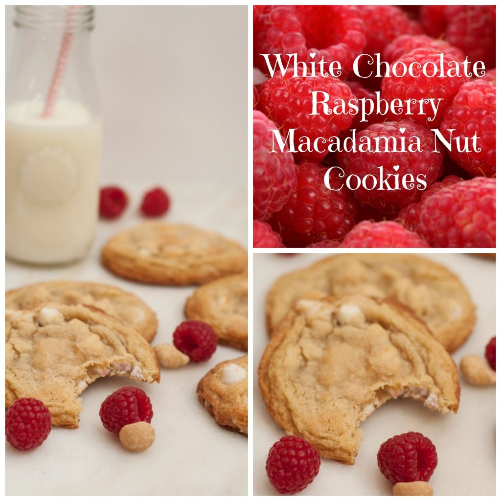 raspberry cookie collage