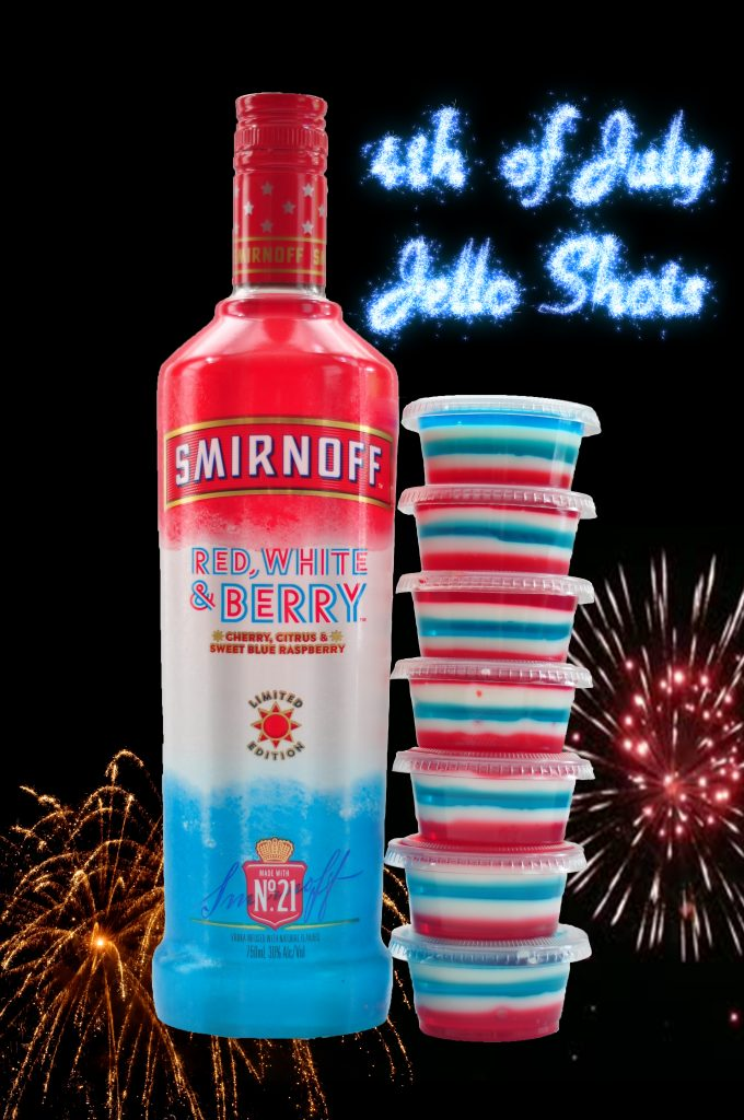 4th of july red white and blue jello shots