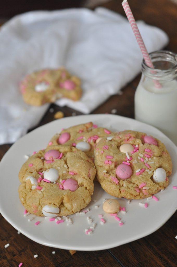 White Chocolate Cheesecake M&M Cookies