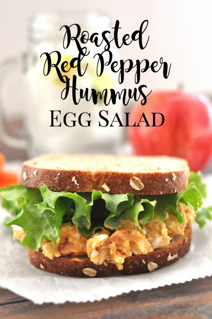 roasted red pepper hummus egg salad