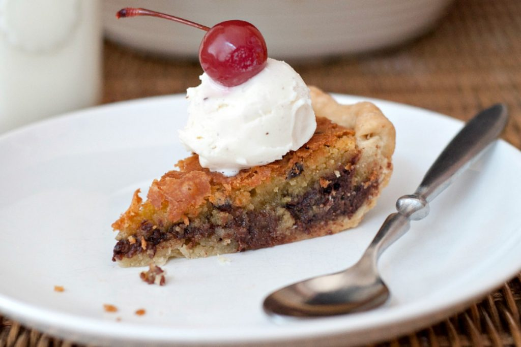 Browned Butter Chocolate Chip Cookie Pie