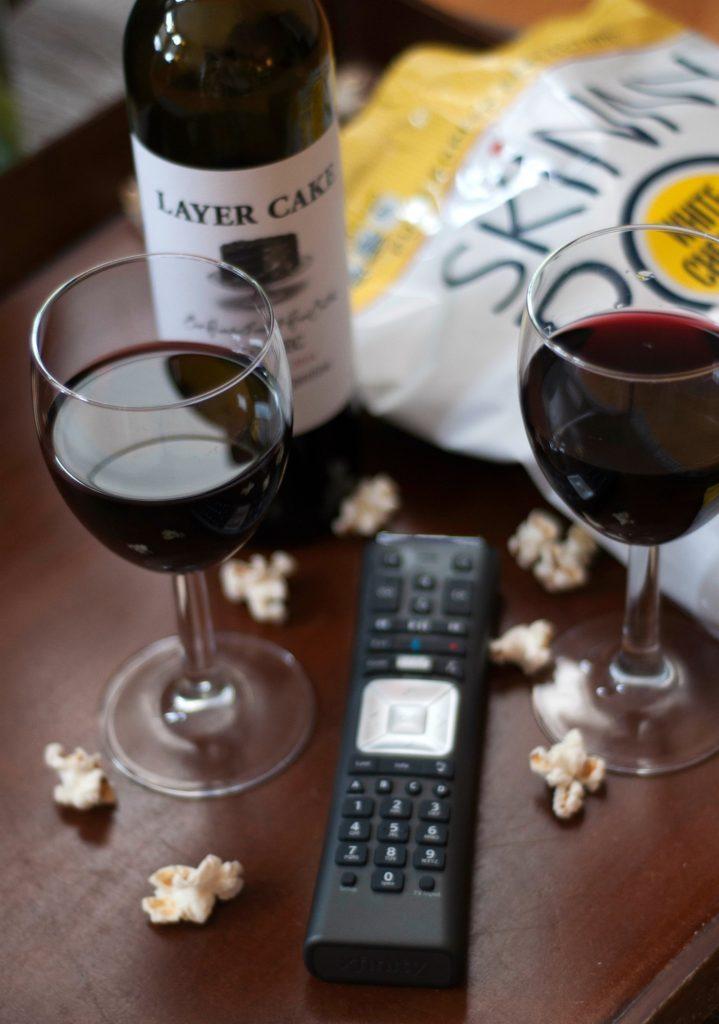 Skinny pop wine popcorn pairing