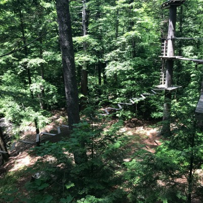 gunstock aerial treetop ropes course
