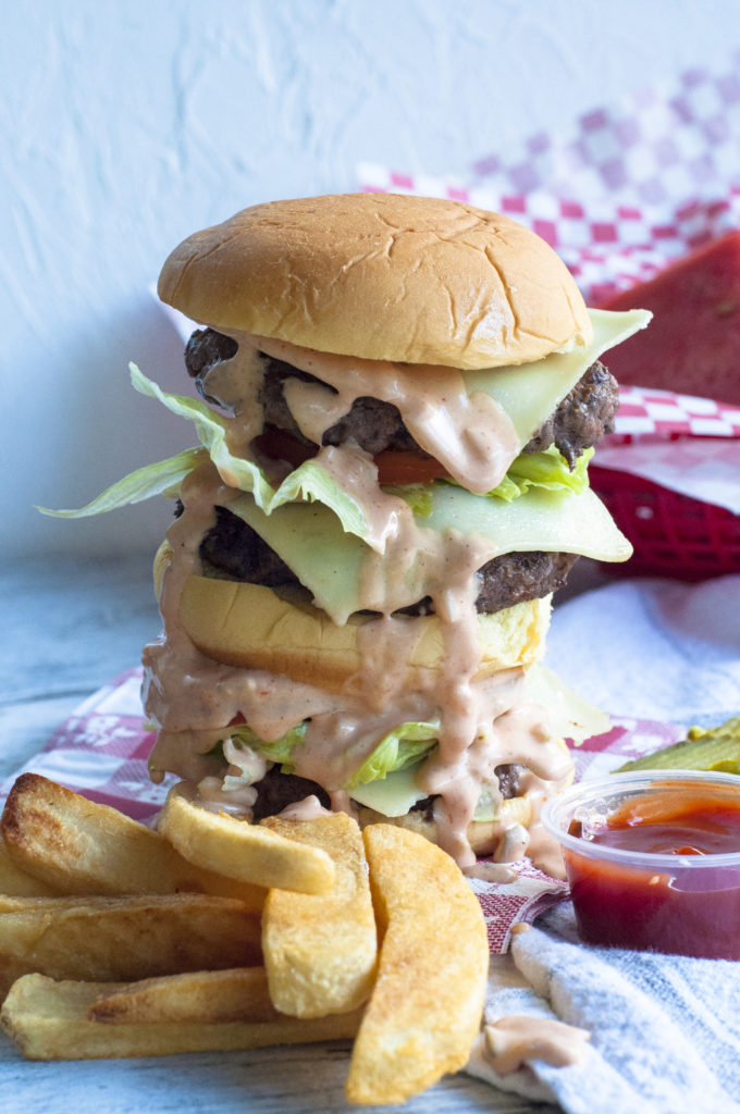 Classic american double cheeseburger #burgermonth