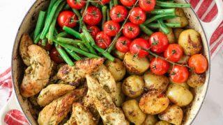 Pesto Chicken Bake - An Easy and Delicious One Pan Recipe